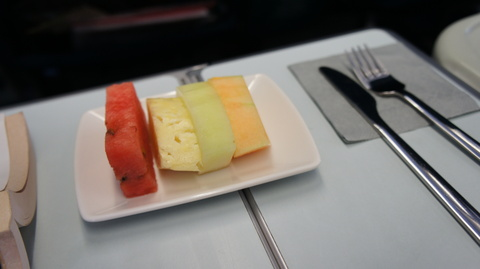 Business class ご飯