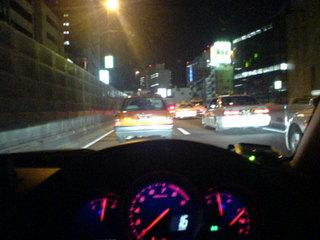 首都高渋谷線下りは混んでいました