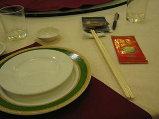 晩ご飯のお皿