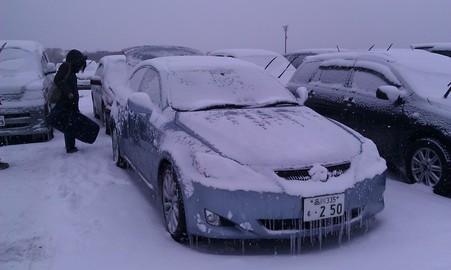しっかり雪が積もっている車