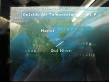 香港→バンコクの飛行ルート