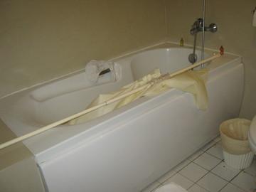 シャワーカーテン落ちた!