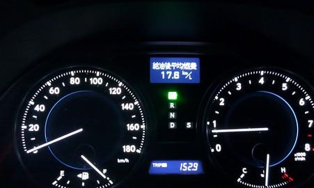 諏訪湖PA→石川PAまでの燃費