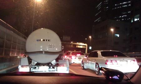 帰りに渋滞
