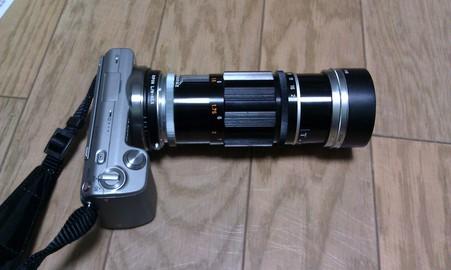 キヤノン135mmF3.5 を装着