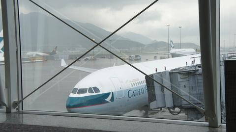 シンガポール行き飛行機