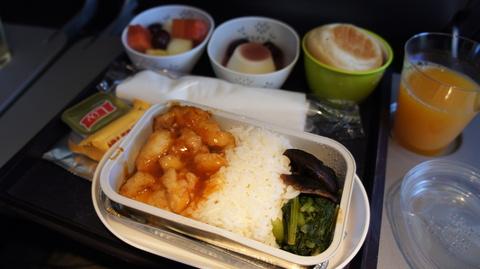 SIN→BKKの機内食