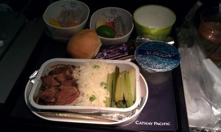 BKK→HKGの機内食