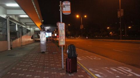 Regal riverside バス停から空港へ