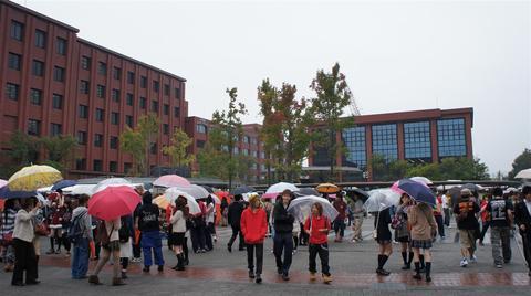 龍谷大学は学祭でした