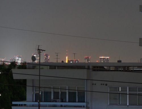 ベランダから見える東京タワー