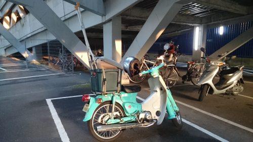 バイクに載せられる荷物は載せて帰宅