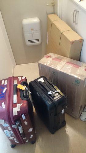 届いた荷物類