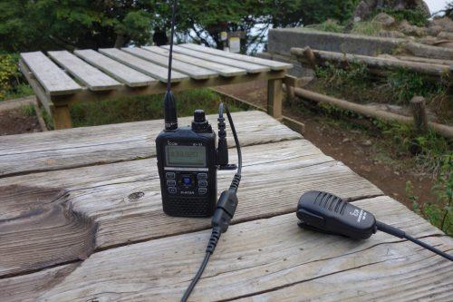 大山山頂から無線運用
