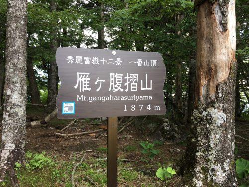 雁ヶ腹摺山 山頂 0636