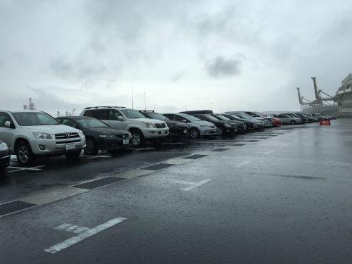 1日目の駐車場
