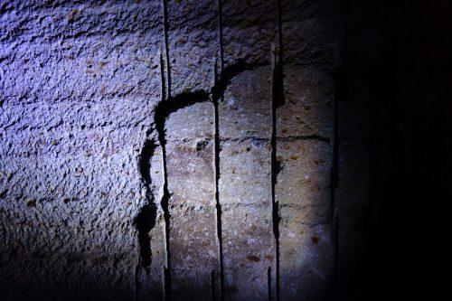 大谷石資料館 機械堀と手彫りの境目