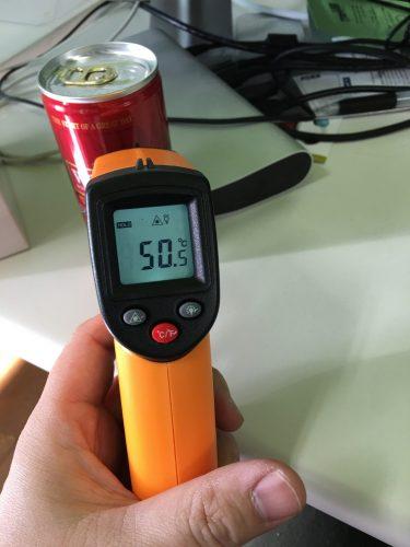 缶コーヒーを測定